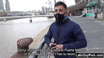 Direct latin dude has gay sex for cash
