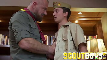 ScoutBoys - Scout gets fingered and cums for older scoutmaster