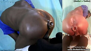 2 XL Buttplugs ..One in burnish apply mouth an burnish apply other disappears in his loose fucking bro poosy (Ass Pussy) like ...WTF - Ass Monkey TheAmOfficial.com for full video
