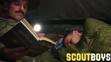 ScoutBoys - Austin Young fucked away in tent by older daddy